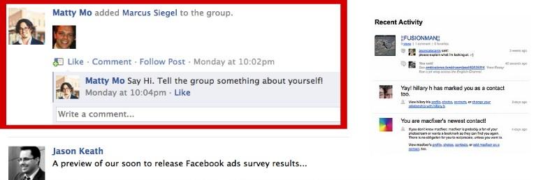Facebook algorithm example