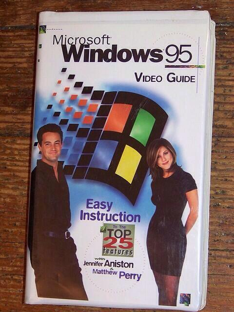 Jennifer-Aniston-Matthew-Perry-VHS-Windows-95