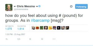 Chris Messina tweet