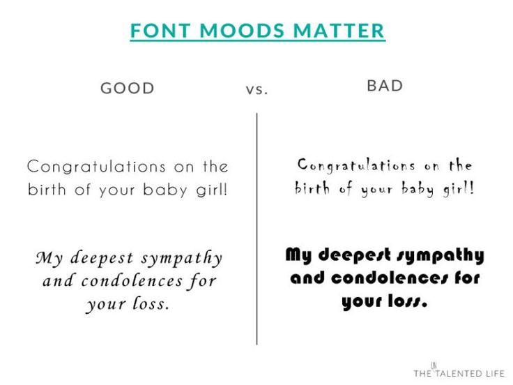 Font moods